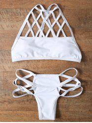 Strappy Cut Out Bikini Set