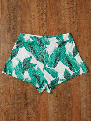 Tropical  High Waisted Patterned Shorts - GREEN