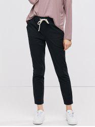Drawstring Ninth Pants