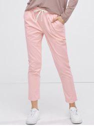 Casual Drawstring Ninth Pants