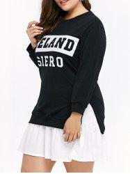Crew Neck Iceland Siero Graphic Sweatshirt Dress