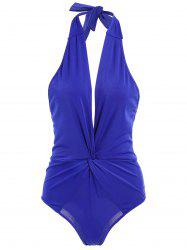 Twist Halter Shaping One Piece Swimwear