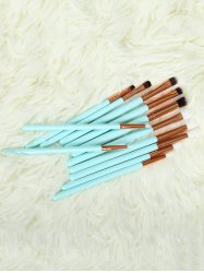 12 Pcs Eye Makeup Brushes Set - BLUE