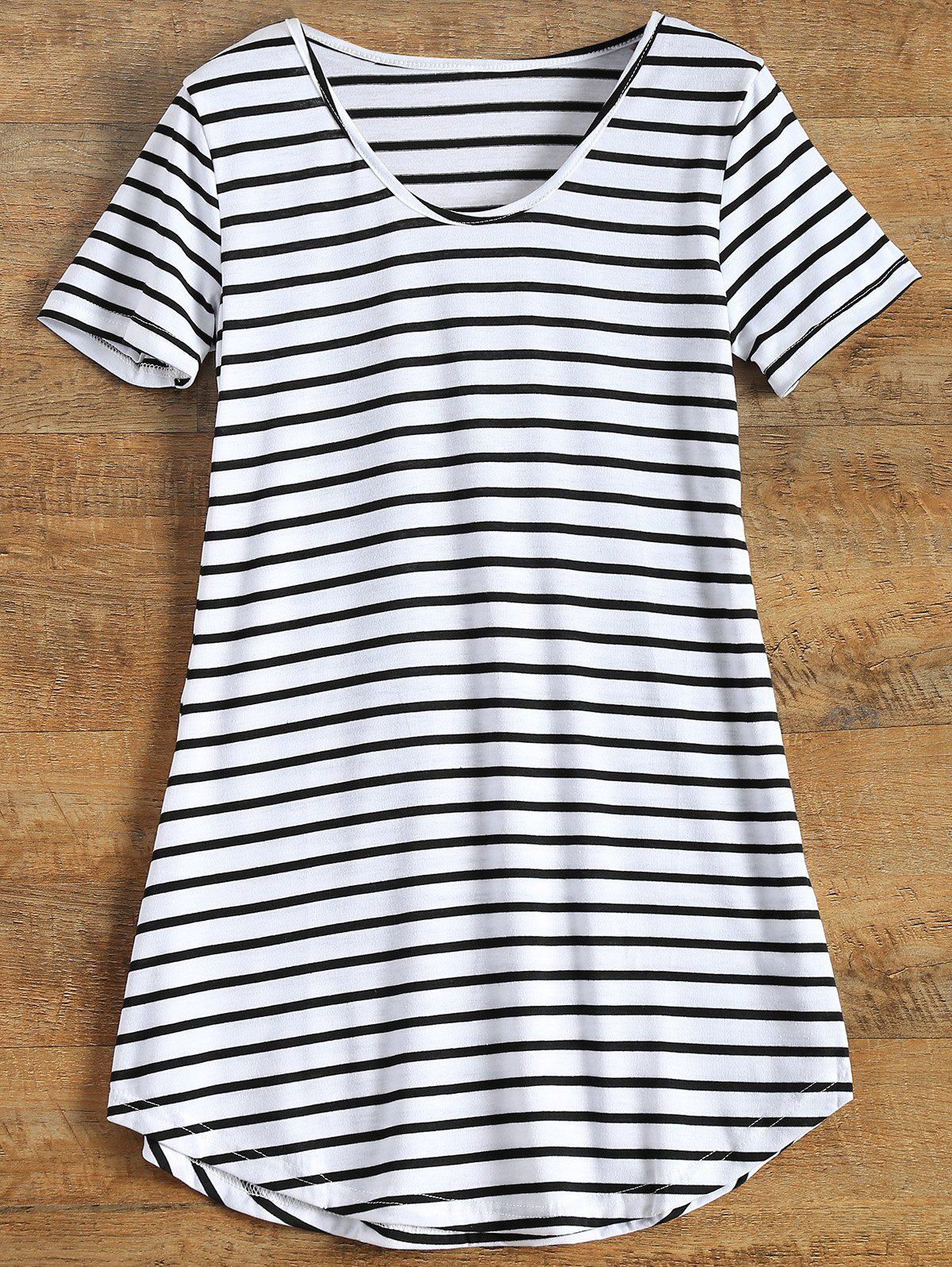 Fashion Tunic Striped T-Shirt