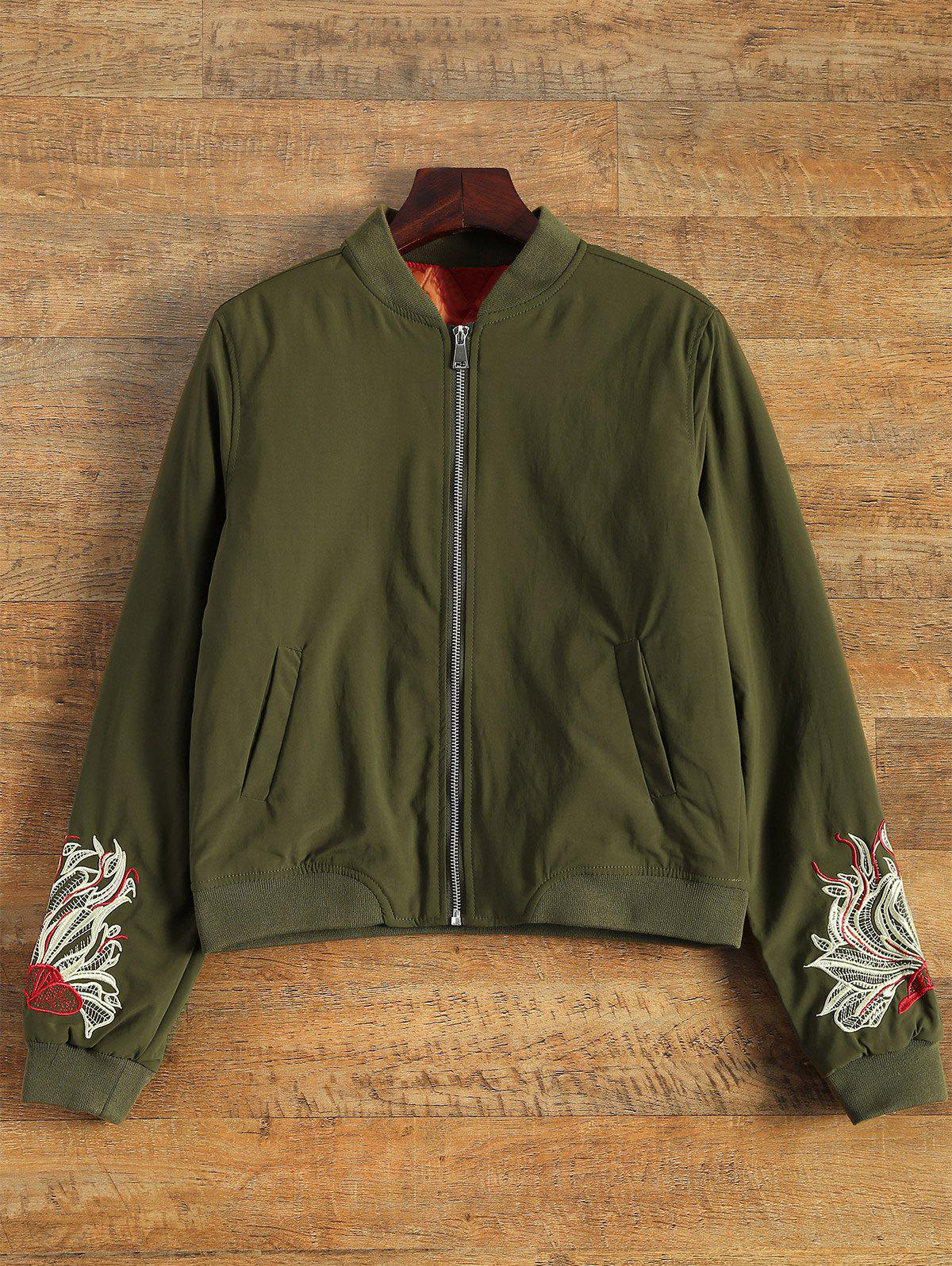 Latest Embroidered Lined Quilted Bomber Jacket