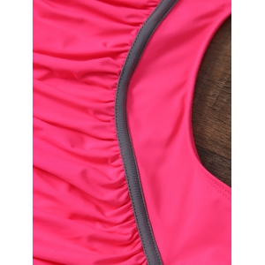 Ruched Underwire One Piece Monokini Swimsuit -