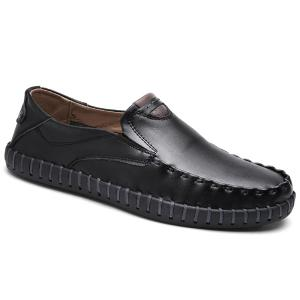 Whipstitch Crocodie Embossed Casual Shoes - BLACK Very Cheap Price 2PlizIiwb