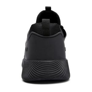Suede Insert Athletic Shoes - BLACK 42