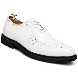 Wingtip Faux Leather Formal Shoes - White - 44