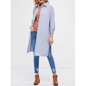 Oversized Side Slit Longline Shirt