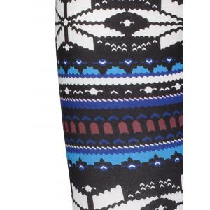 Stylish Elastic Waist Skinny Printed Women's Leggings - COLORMIX ONE SIZE(FIT SIZE XS TO M)