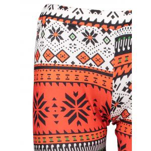 Stylish Elastic Waist Slimming Printed Women's Christmas Leggings - MULTICOLOR ONE SIZE(FIT SIZE XS TO M)