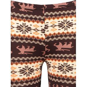 Chic Hit Color Print Stretchy Leggings For Women -