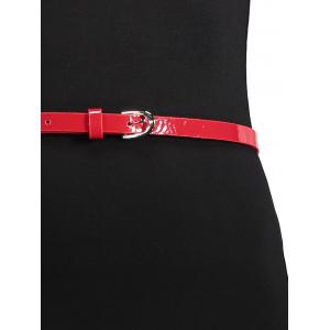 Two Tone Belted Fitted Work Dress - BLACK L