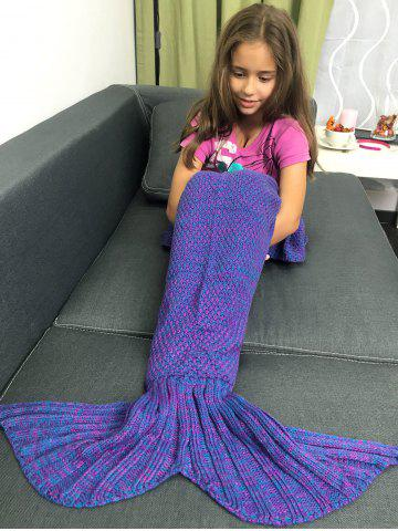 Discount Stylish Yarn Knitted Sleeping Bags Mermaid Tail Shape Blanket