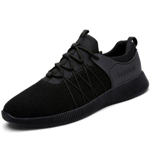 Outfits Suede Insert Athletic Shoes BLACK 42