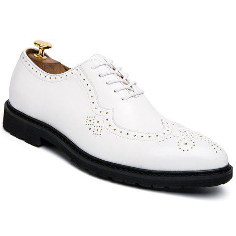 Discount Wingtip Faux Leather Formal Shoes WHITE 44