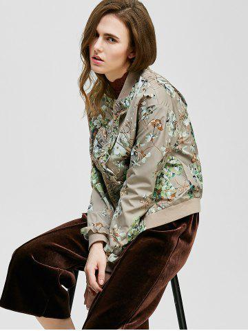 Outfit Ruffle-Trimmed Tiny Floral Jacket - XL LIGHT KHAKI Mobile