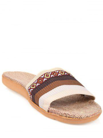 Fashion Striped Ombre House Slippers COFFEE SIZE(42-43)
