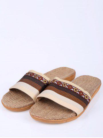 Shops Striped Ombre House Slippers - SIZE(42-43) COFFEE Mobile