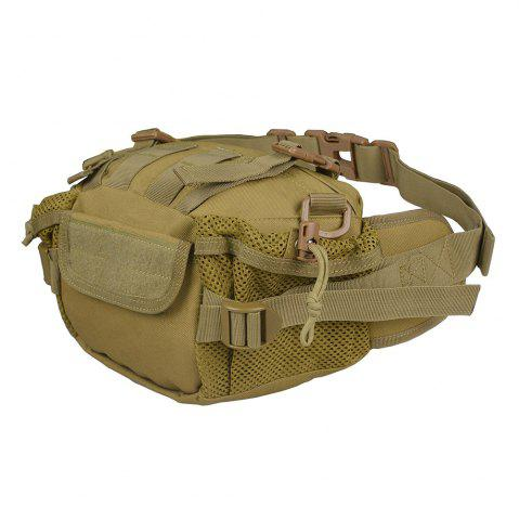 Discount 1000D Outdoor Waterproof Multifunctional Tactical Waist Bag - KHAKI  Mobile
