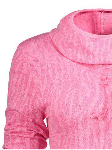 Discount Dry-Quick Heathered Drawstring Pink Hoodie - DEEP PINK M Mobile