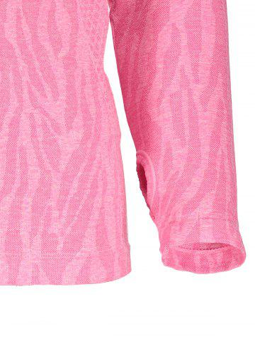 Affordable Dry-Quick Heathered Drawstring Pink Hoodie - DEEP PINK M Mobile