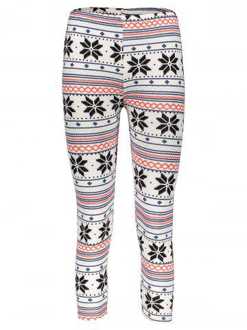 Stylish Women's High Waist Geometrical Print Color Block Leggings - Colormix - One Size(fit Size Xs To M)