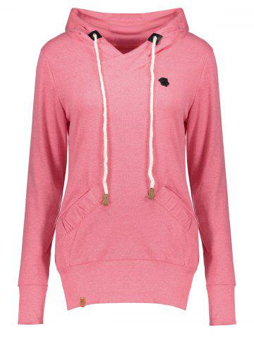 Outfits Stylish Hooded Long Sleeve Drawstring Pocket Design Women's Hoodie