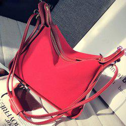 Zipper Suede Side Bag