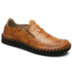Whipstitch Leather Casual Shoes