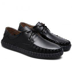 Leather Whipstitch Detail Casual Shoes