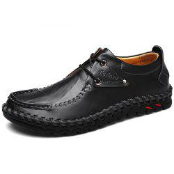 Whipstitch Detail Moc Toe Casual Shoes