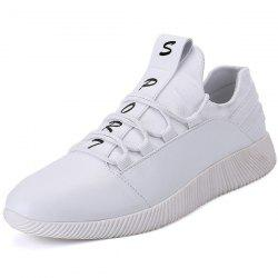 Faux Leather Panel SPORT Print Casual Shoes