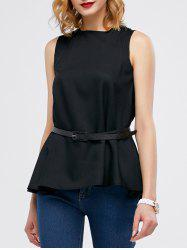 Belt Chiffon Tank Top