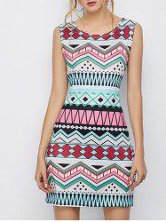 Geometric Mini Sheath Dress
