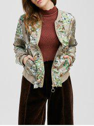 Ruffle-Trimmed Tiny Floral Jacket