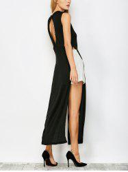 High Slit Cut Out Maxi Carpet Dress