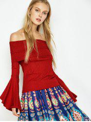 Bell Sleeve Off Shoulder T-Shirt
