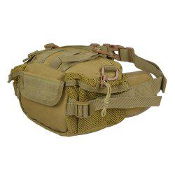 1000D Outdoor Waterproof Multifunctional Tactical Waist Bag - KHAKI