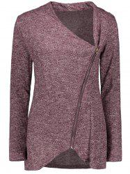 Asymmetrical Zippered Women's Sweatshirt -