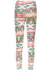 Geometrical Christmas Pattern Leggings -