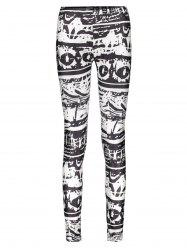 Casual Abstract Printed Bodycon Leggings For Women -