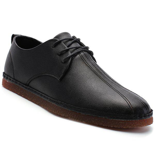 Buy Faux Leather Round Toe Casual Shoes