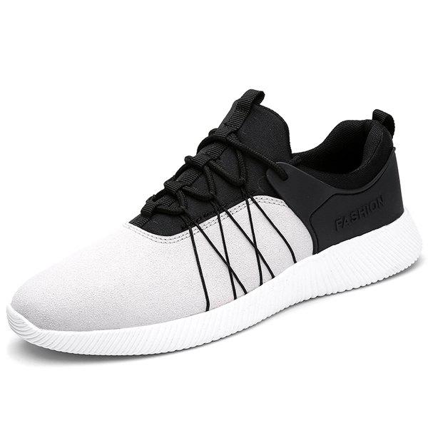 Online Suede Insert Athletic Shoes