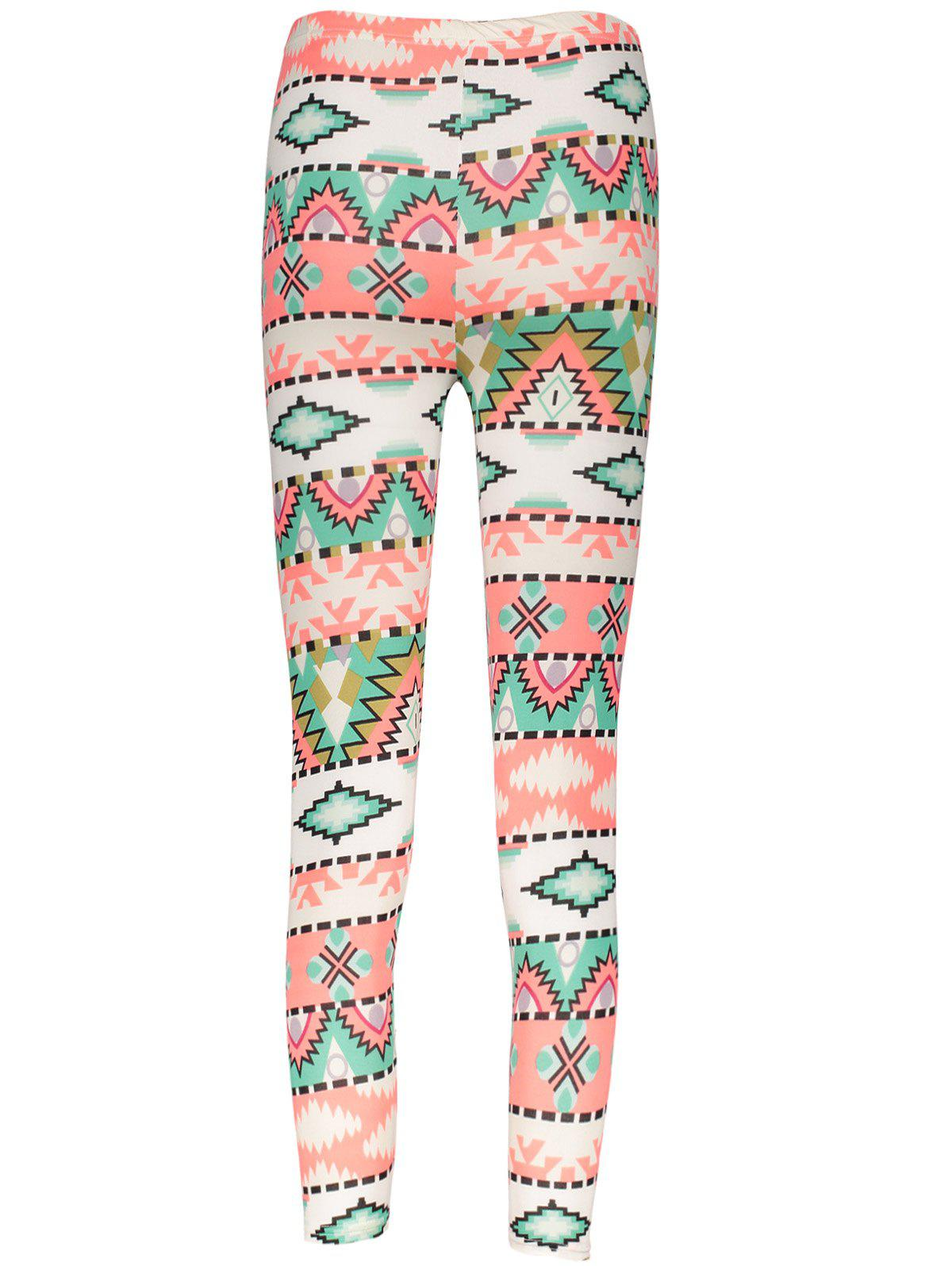 Cheap Geometrical Christmas Pattern Leggings
