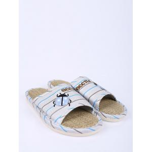 Jute Panel Beetle Striped House Slippers -