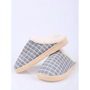 Flocking Grid House Slippers -
