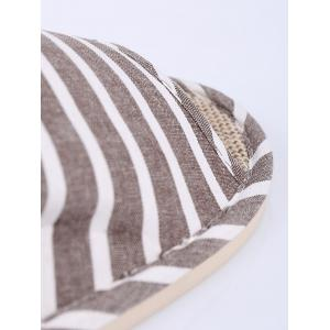 Striped Cotton Fabric Bath Slippers -