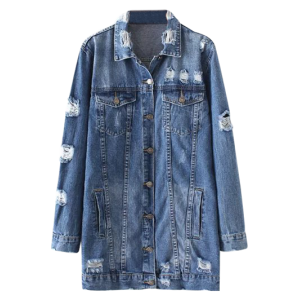 Distressed Denim Coat